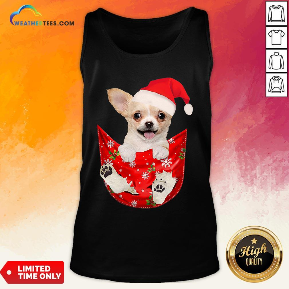 Hi Santa Chihuahua Dog Merry Christmas Tank Top- Design By Weathertees.com