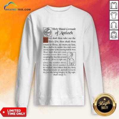 Holy Hand Grenade Of Antioch Sweatshirt - Design By Weathertees.com