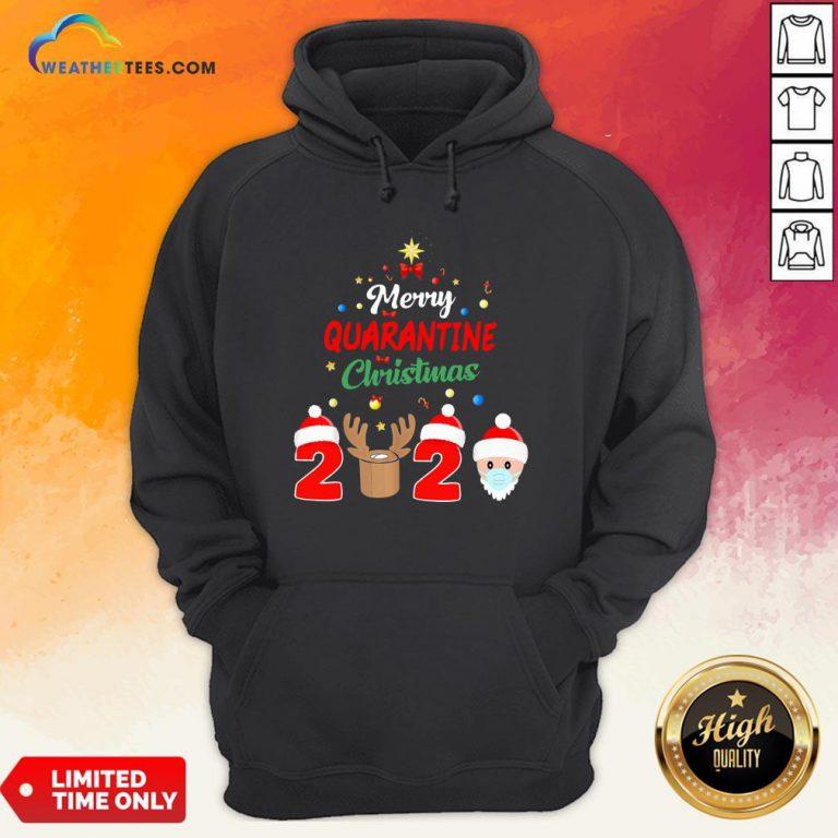 How Merry Quarantine Christmas 2020 Xmas Pajamas Holidays Hoodie - Design By Weathertees.com