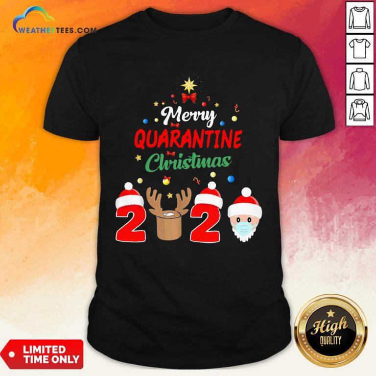How Merry Quarantine Christmas 2020 Xmas Pajamas Holidays Shirt - Design By Weathertees.com