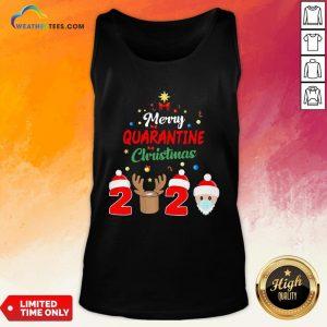 How Merry Quarantine Christmas 2020 Xmas Pajamas Holidays Tank Top - Design By Weathertees.com