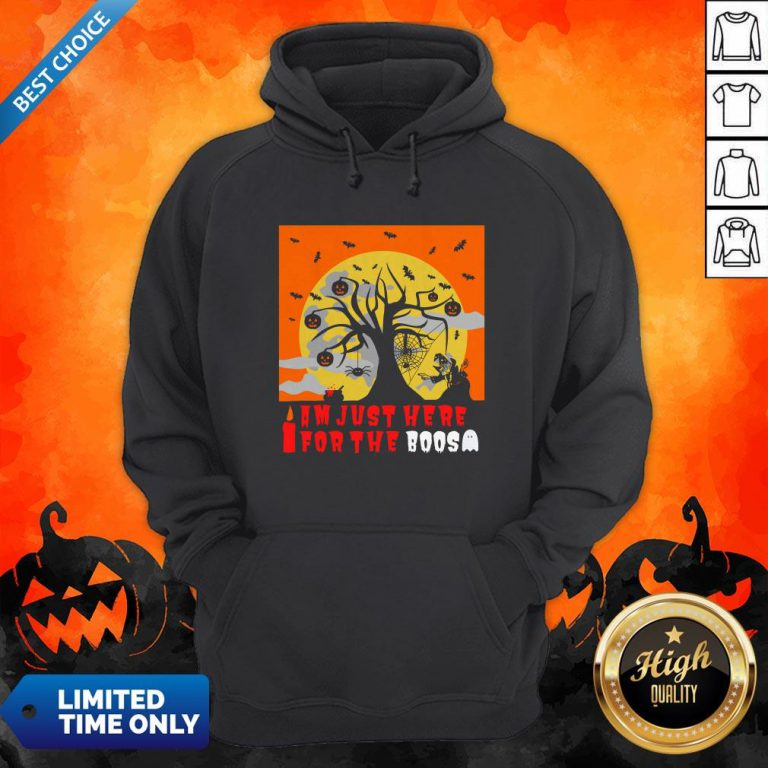 I Am Just Here For The Boos I Love Scary Death Trick Or Treat Halloween Day Hoodie