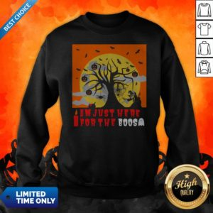 I Am Just Here For The Boos I Love Scary Death Trick Or Treat Halloween Day Sweatshirt