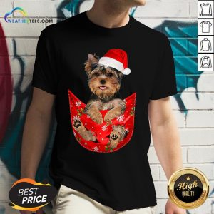 Kill Santa Yorkshire Terrier Merry Christmas V-neck - Design By Weathertees.com