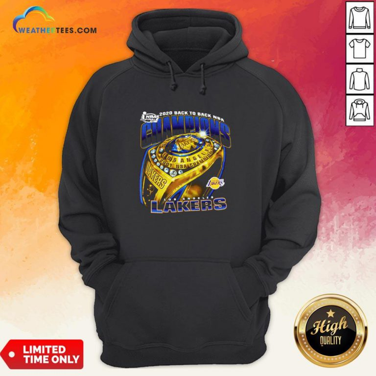 Lakers Finals 2020 Back To Back NBA Hoodie
