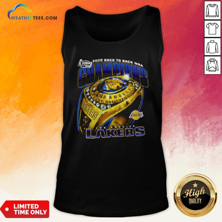 Lakers Finals 2020 Back To Back NBA Tank Top