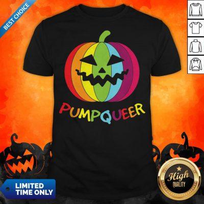 LGBT Rainbow Pumpqueer Smile Halloween Shirt