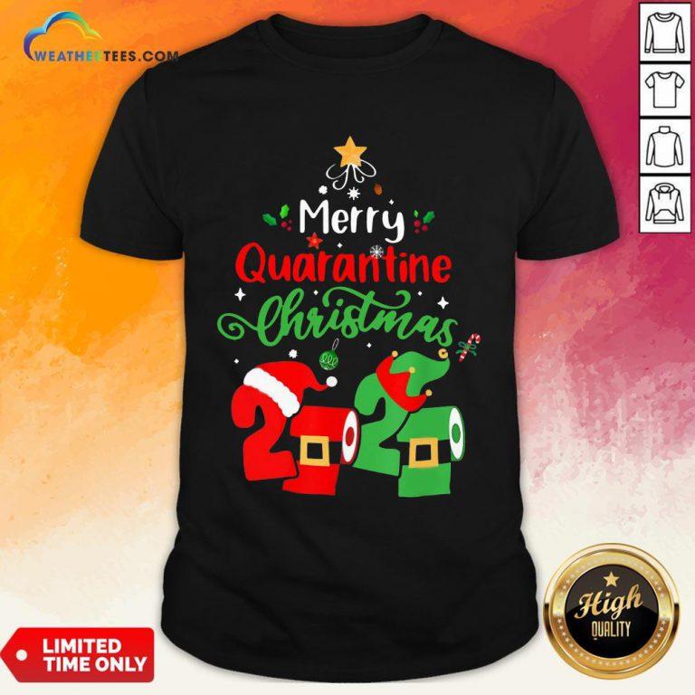 Love Merry Quarantine Christmas 2020 Toilet Paper Shirt - Design By Weathertees.com