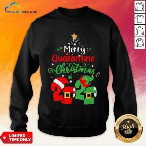 Love Merry Quarantine Christmas 2020 Toilet Paper Sweatshirt- Design By Weathertees.com