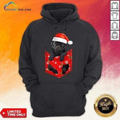 Mama Santa Pug Merry Christmas Hoodie - Design By Weathertees.com
