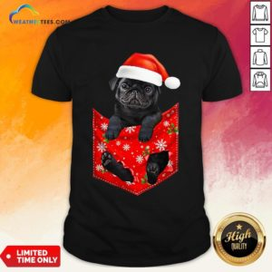 Mama Santa Pug Merry Christmas Shirt - Design By Weathertees.com