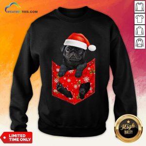 Mama Santa Pug Merry Christmas Sweatshirt - Design By Weathertees.com