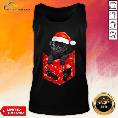 Mama Santa Pug Merry Christmas Tank Top - Design By Weathertees.com