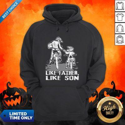 Motocross Dirt Bike Like Father Like Son Biker Lovers Hoodie