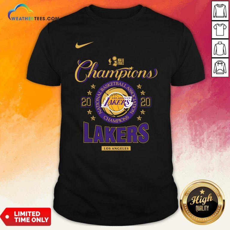Nice NBA Finals Champion Los Angeles Lakers 2020 Shirt