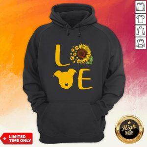 Nice Pitbull Love Sunflower Hoodie