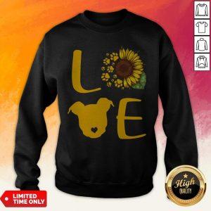 Nice Pitbull Love Sunflower Sweatshirt