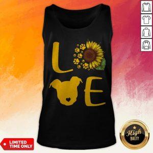 Nice Pitbull Love Sunflower Tank Top