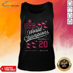 Noon It's Time For World Champions Baseball 2020 Los Angeles California Tank Top - Design By Weathertees.com