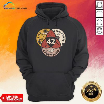 Official Life Universe Everything 42 Hoodie - Design By Weathertees.com