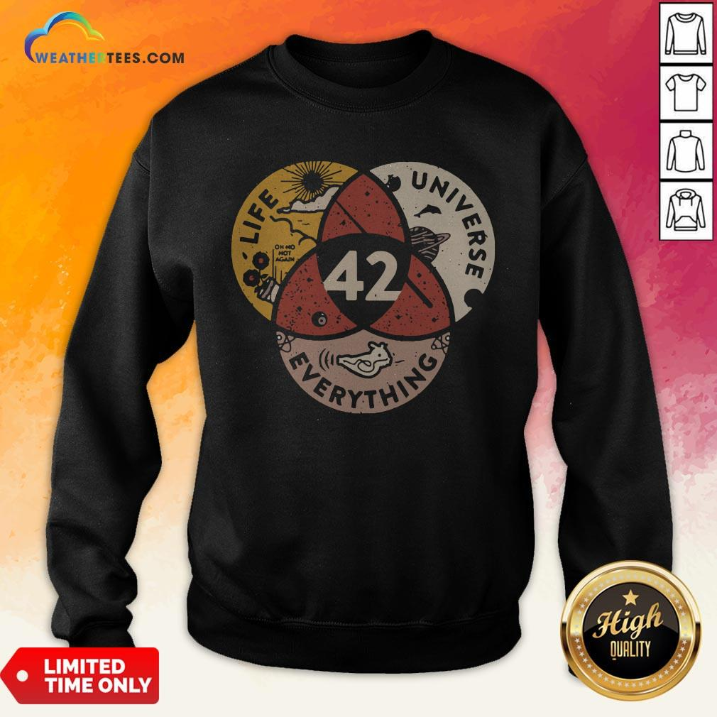 Official Life Universe Everything 42 Sweatshirt - Design By Weathertees.com