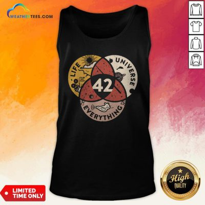 Official Life Universe Everything 42 Tank Top - Design By Weathertees.com