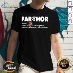Perfect Fathers Day Fathor Like A Dad Just Way Mightier Iron Man Funny V-neck - Design By Weathertees.com