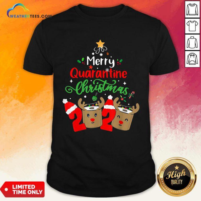 Queen Quarantine Christmas 2020 Xmas Reindeer Toilet Paper Shirt - Design By Weathertees.com