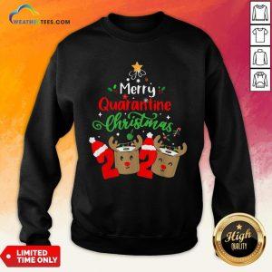 Queen Quarantine Christmas 2020 Xmas Reindeer Toilet Paper Sweatshirt - Design By Weathertees.com
