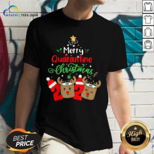 Queen Quarantine Christmas 2020 Xmas Reindeer Toilet Paper V-neck - Design By Weathertees.com