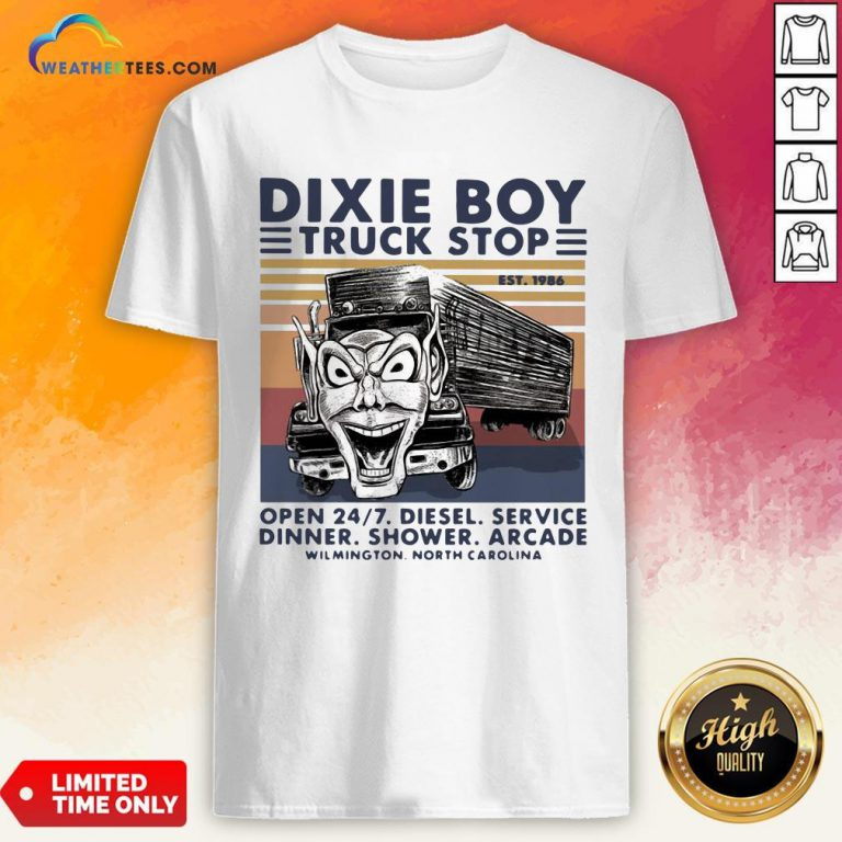 Red Dixie Boy Truck Stop Open 24 7 Diesel Service Vintage Shirt - Design By Weathertees.com