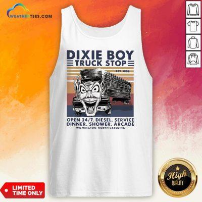 Red Dixie Boy Truck Stop Open 24 7 Diesel Service Vintage Tank Top - Design By Weathertees.com