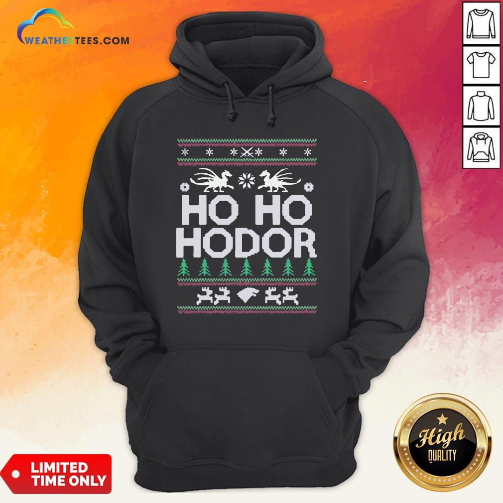 Right Ho ho Hodor Ugly Christmas Hoodie - Design By Weathertees.com