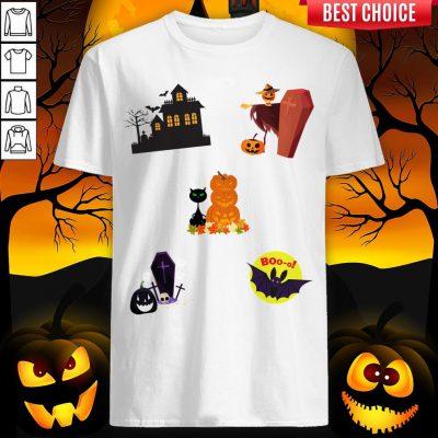 Scary Boo Pumpkins Happy Halloween Day Shirt
