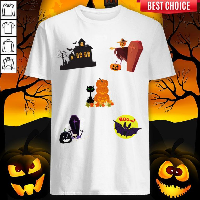 Scary Boo Pumpkins Happy Halloween Day Shirt