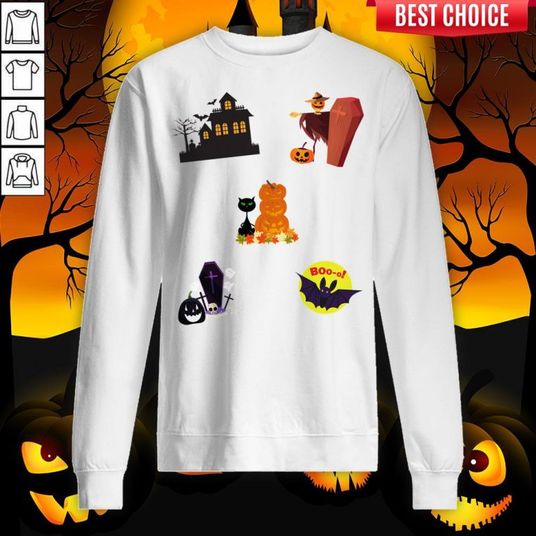 Scary Boo Pumpkins Happy Halloween Day Sweatshirt