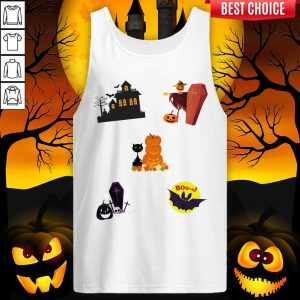 Scary Boo Pumpkins Happy Halloween Day Tank Top