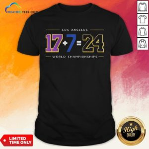 Strong Los Angeles 17 7 24 Baseball World Championships Shirt- Design By Weathertees.com