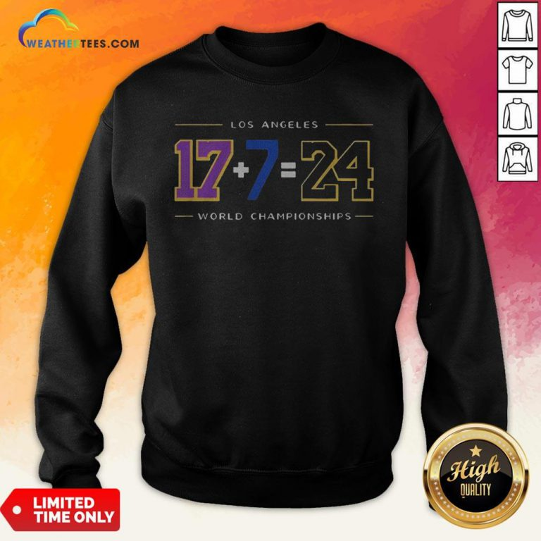 Strong Los Angeles 17 7 24 Baseball World Championships Sweatshirt- Design By Weathertees.com