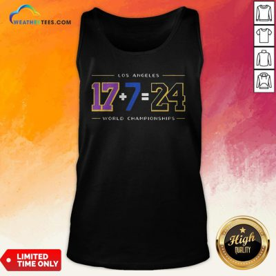 Strong Los Angeles 17 7 24 Baseball World Championships Tank Top- Design By Weathertees.com
