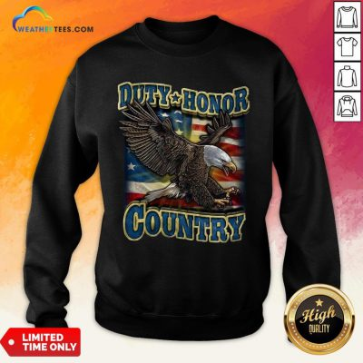 Tall Eagle Duty Honor Country US Sweatshirt- Design By Weathertees.com