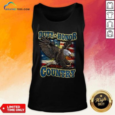 Tall Eagle Duty Honor Country US Tank Top - Design By Weathertees.com