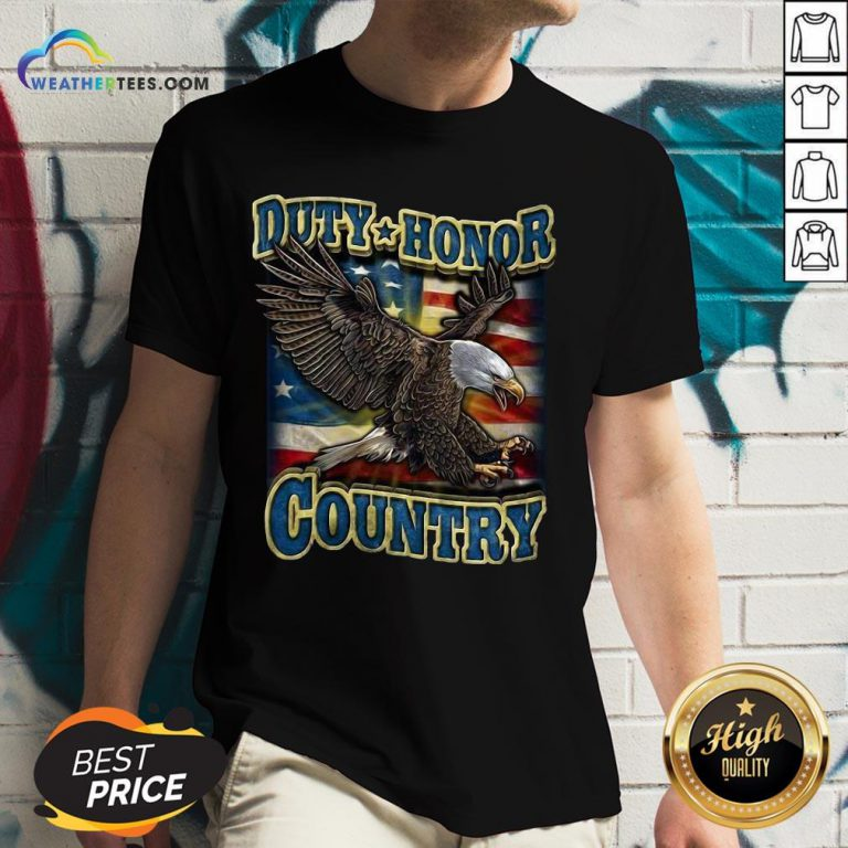 Tall Eagle Duty Honor Country US V-neck - Design By Weathertees.com
