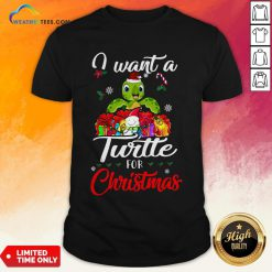 Tech I Want A Turtle For Christmas Shirt - Design By Weathertees.com