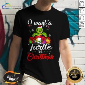 Tech I Want A Turtle For Christmas V-neck - Design By Weathertees.com