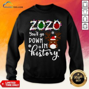 Things Gnomies 2020 You'll Go Down In History Christmas Sweatshirt - Design By Weathertees.com