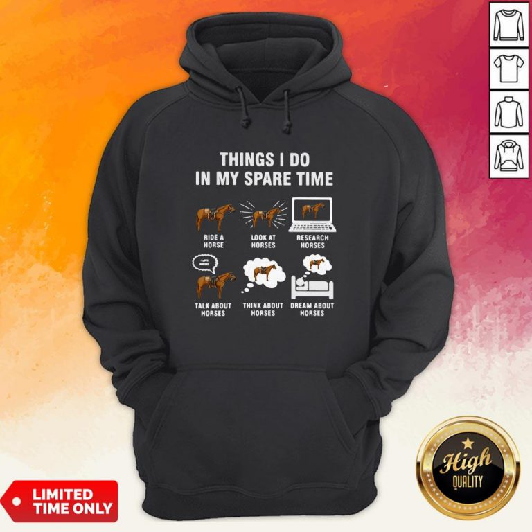Things I Do In My Spaes Research Horses Hoodie