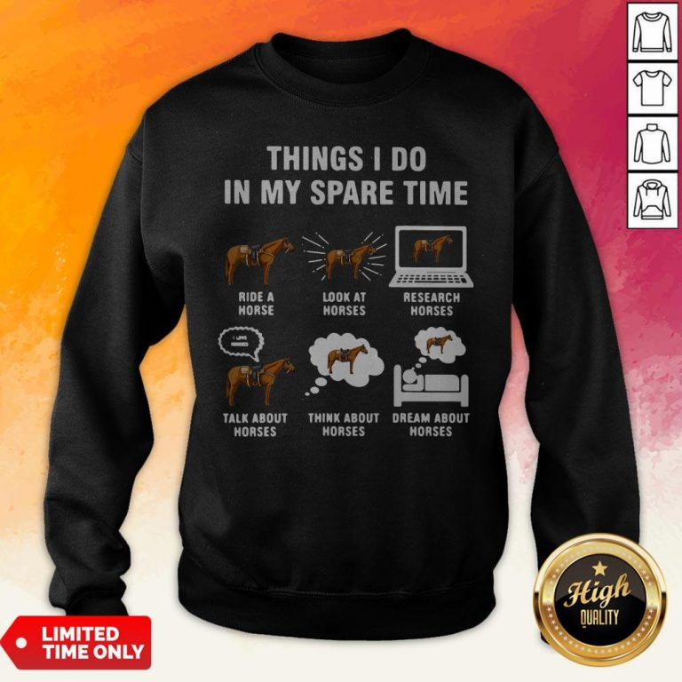 Things I Do In My Spaes Research Horses Sweatshirt
