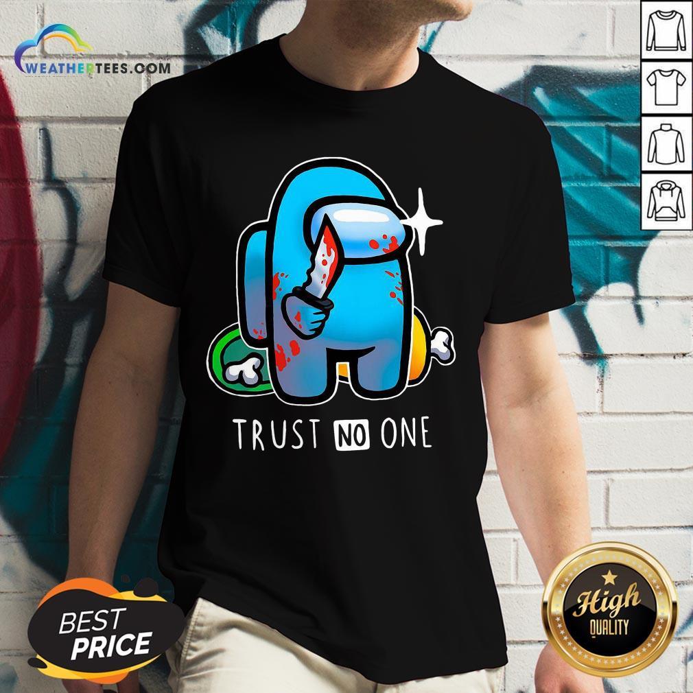 Trust Among Us Trust No One V-neck - Design By Weathertees.com