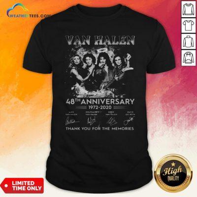 Van Halen 48Th Anniversary 1972 2020 Thank You For The Memories Shirt